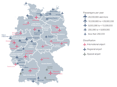 Germany airport map